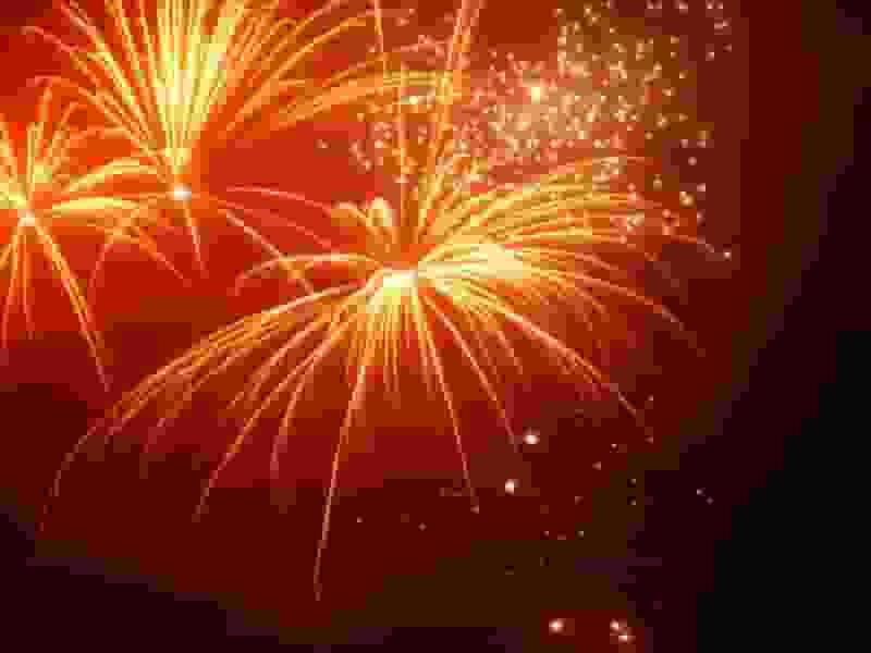 Feuerwerk zu Sylvester